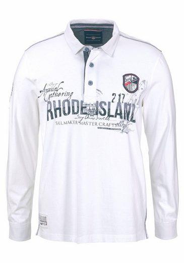 Rhode Island Langarm-Poloshirt