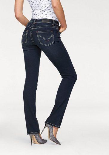 Arizona Gerade Jeans Kontrastnähte, Low Waist