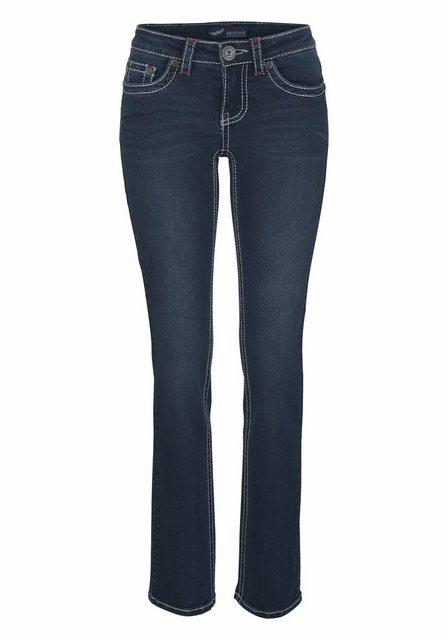 Arizona Gerade Jeans »Kontrastnähte« Low Waist | Bekleidung > Jeans > Gerade Jeans | Arizona