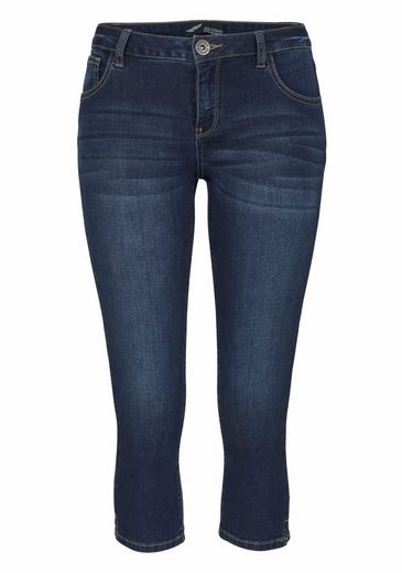 Arizona Caprijeans Ultra-Stretch, Mid-Waist