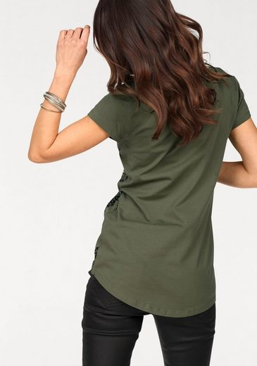 Laura Scott T-shirt, With Fashionable Print And Sparkling Sequins