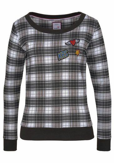 KangaROOS Sweatshirt, mit trendigen Badges