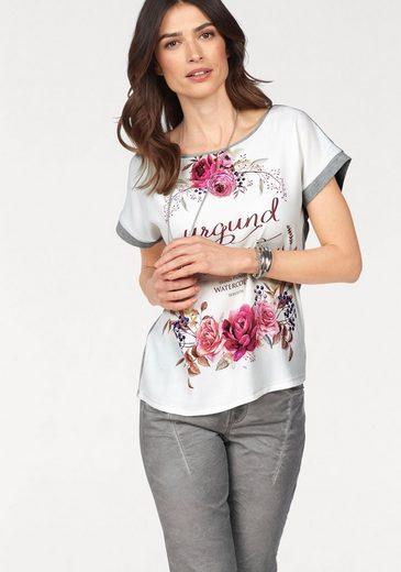 Laura Scott T-Shirt, mit femininem Blumendruck