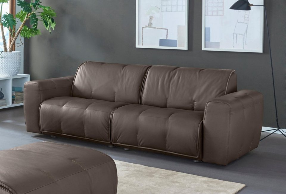 natuzzi editions 3 sitzer ledersofa alessio in zwei. Black Bedroom Furniture Sets. Home Design Ideas