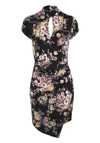 Melrose Jerseykleid, im Asia-Stil
