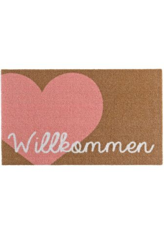 ZALA LIVING Durų kilimėlis »Willkommen Herz« recht...
