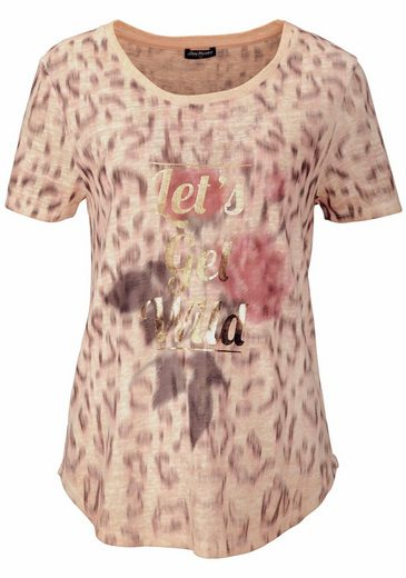 Blue Monkey Rundhalsshirt WILD, mit coolem Animal-Print
