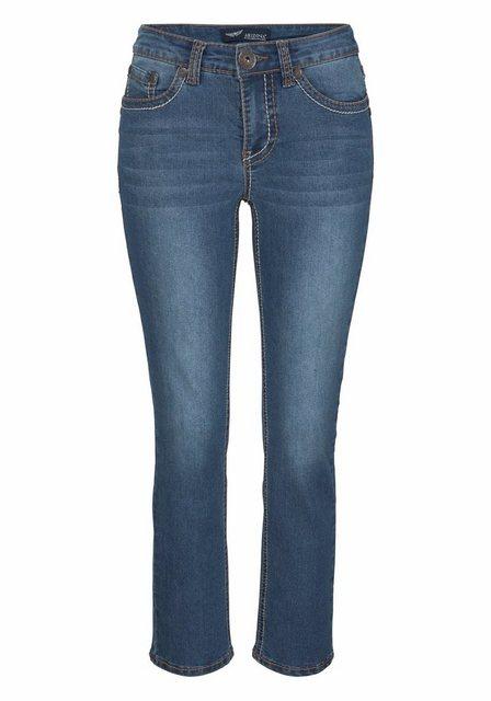 Arizona 7/8-Jeans »mit Kontrastnähten« Mid-Waist | Bekleidung > Jeans > 7/8-Jeans | Arizona