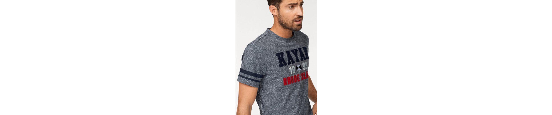 Rhode Island T-Shirt, mit Motto-Stickerei