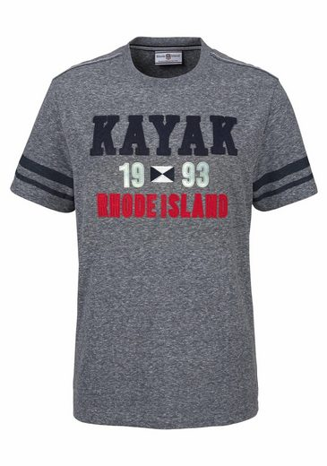 Rhode Island T-Shirt, mit Motto-Stickerei