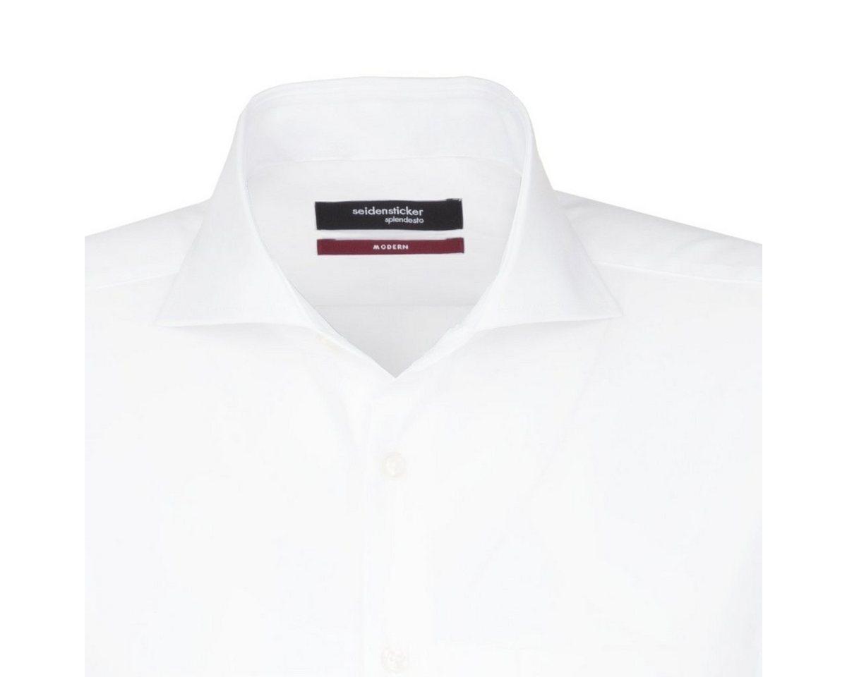 - Herren seidensticker Businesshemd Modern, Hai-Kragen blau, orange, rot, weiß | 04021641521910