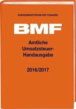 Gebundenes Buch »Amtliche Umsatzsteuer-Handausgabe 2016/2017«