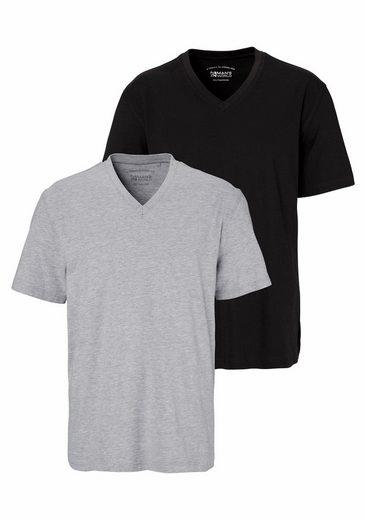 Man's World T-Shirt (Packung, 2 tlg), mit V-Ausschnitt
