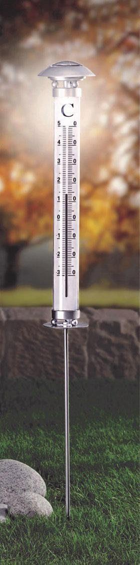 Innocom, Solar Garten-Thermometer inklusive Beleuchtung
