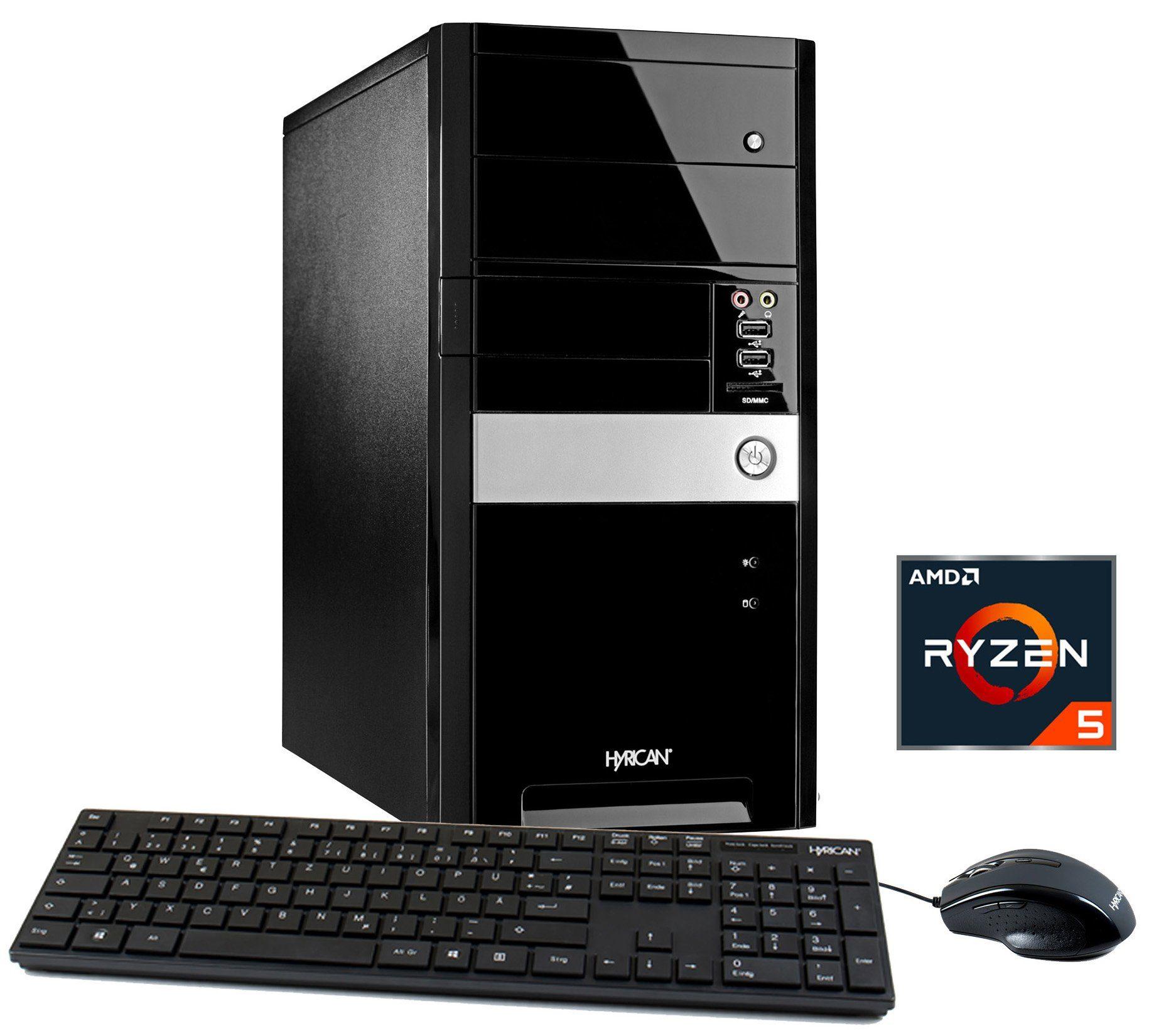 HYRICAN PC AMD Ryzen™ 5 1400 , 8GB, 1TB, GeForce® GT 1030 »PC 5528«