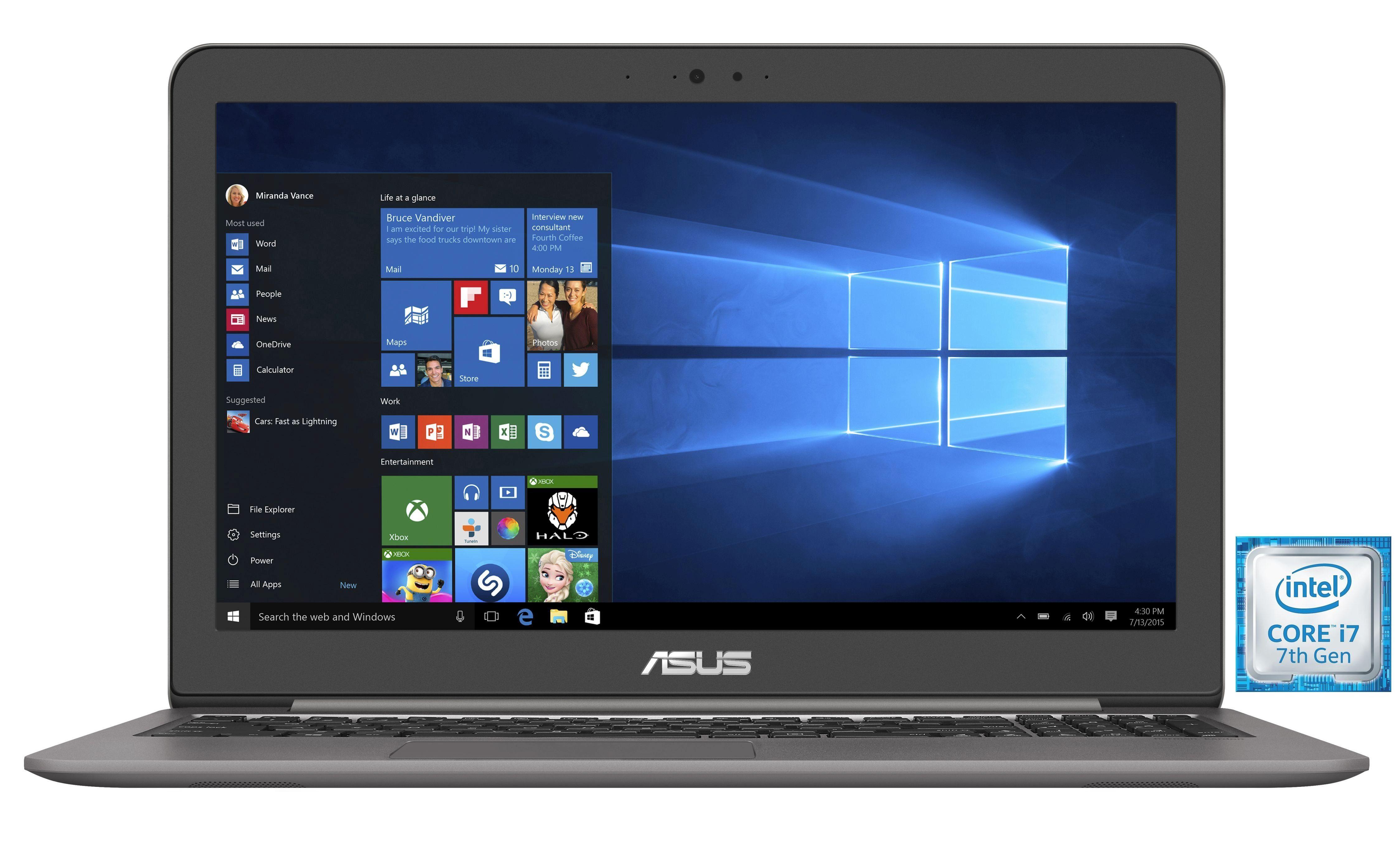 "ASUS UX510UW-CN051T Notebook »Intel Core i7, 39,6cm (15,6""), 256GB + 1TB, 16GB«"