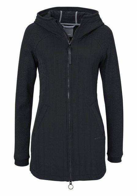 Damen Bench Steppmantel mit Ärmeln aus Fleece schwarz | 05054577557233