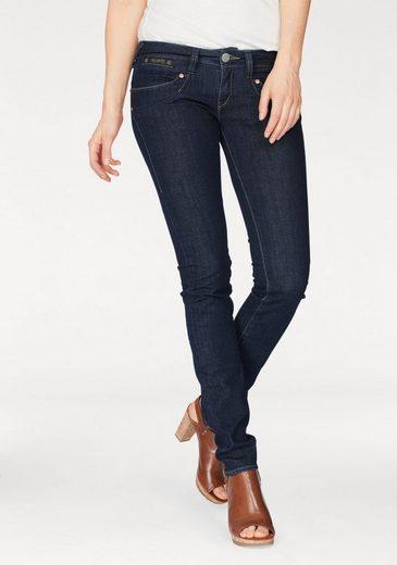 Herrlicher Slim-fit-Jeans Piper Slim Comfort, mit Dekoknöpfen hinten