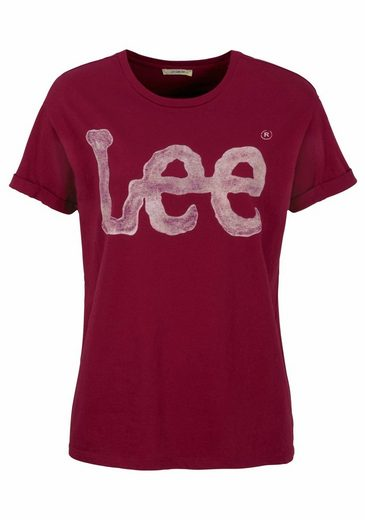 Lee® T-shirt Vintage, With Trendy Logo-print