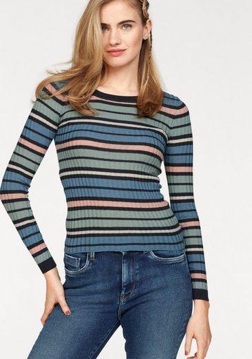 Pepe Jeans Streifenpullover TELMA, in Rippstrickqualität