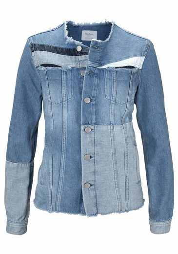 Pepe Jeans Jeansjacke LAYERCAKE JACKET, in Patchwork-Optik