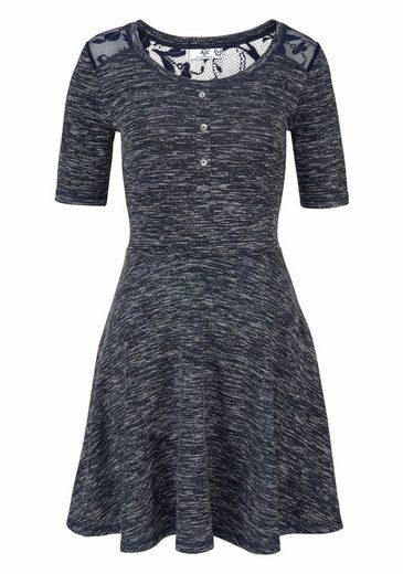 AJC A-Linien-Kleid, mit Spitzen Passe vorn und hinten