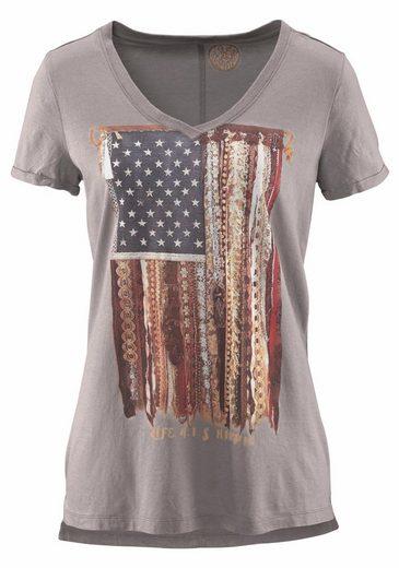 T-Shirt, in Used-Optik
