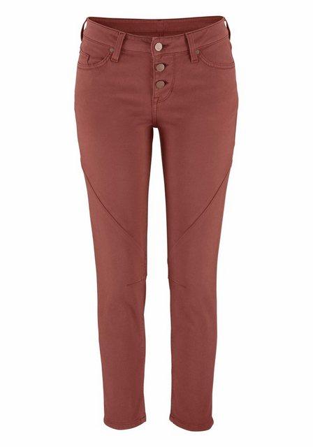 Hosen - MUSTANG 7 8 Jeans »Jasmin Button« mit sichtbaren Knöpfen am Verschluss ›  - Onlineshop OTTO
