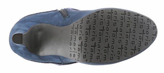 Tamaris High-Heel-Stiefelette, mit femininen Textilschaft