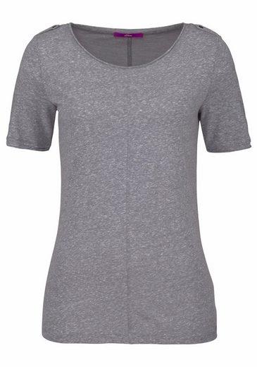 s.Oliver RED LABEL T-Shirt, mit schönen, aufwendigen Details