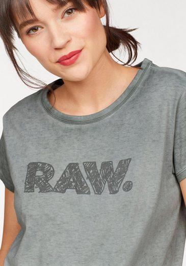 G-Star RAW Rundhalsshirt Epzin, mit Frontdruck