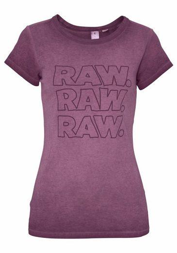 G-Star RAW Rundhalsshirt Epzin, mit coolem Frontdruck