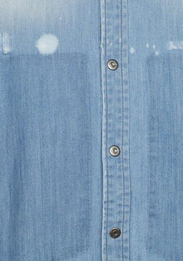 G-Star RAW Jeansbluse Modern Arc 3D, mit Destroyed-Effekten