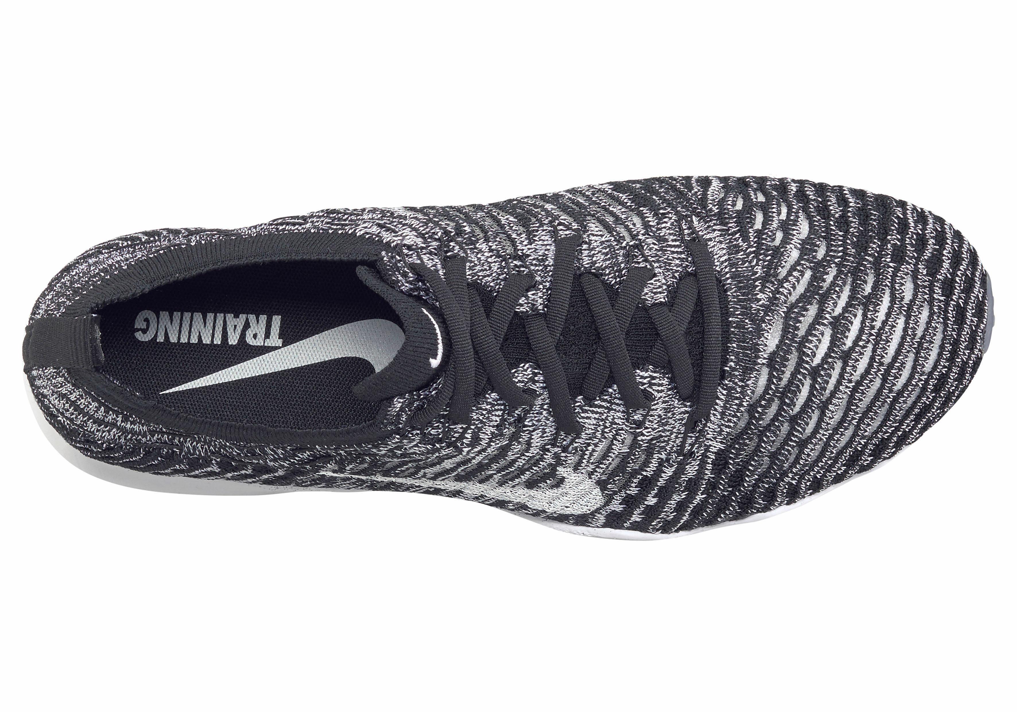 Nike Wmns Air Zoom Fearless Flyknit Fitnessschuh  schwarz-weiß