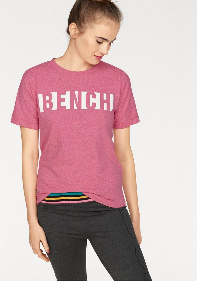 Bench t shirt mit logo print online kaufen otto for Shirts with logo print
