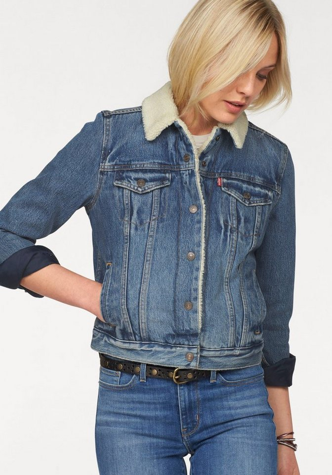 Rote levis jeans jacke