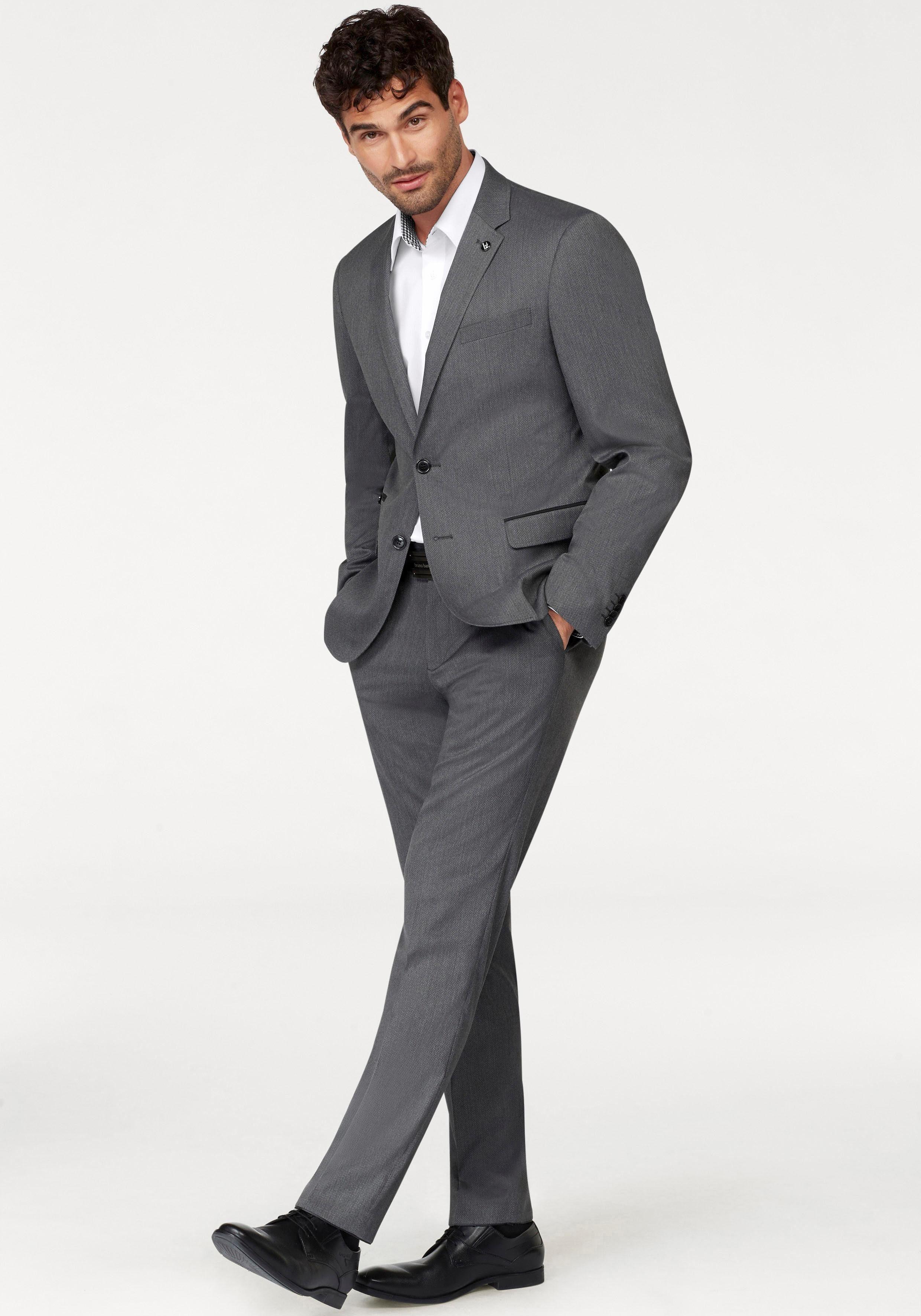 Bruno Banani Anzug, Kontrastfarbige Paspelierung an den Taschen online kaufen | OTTO