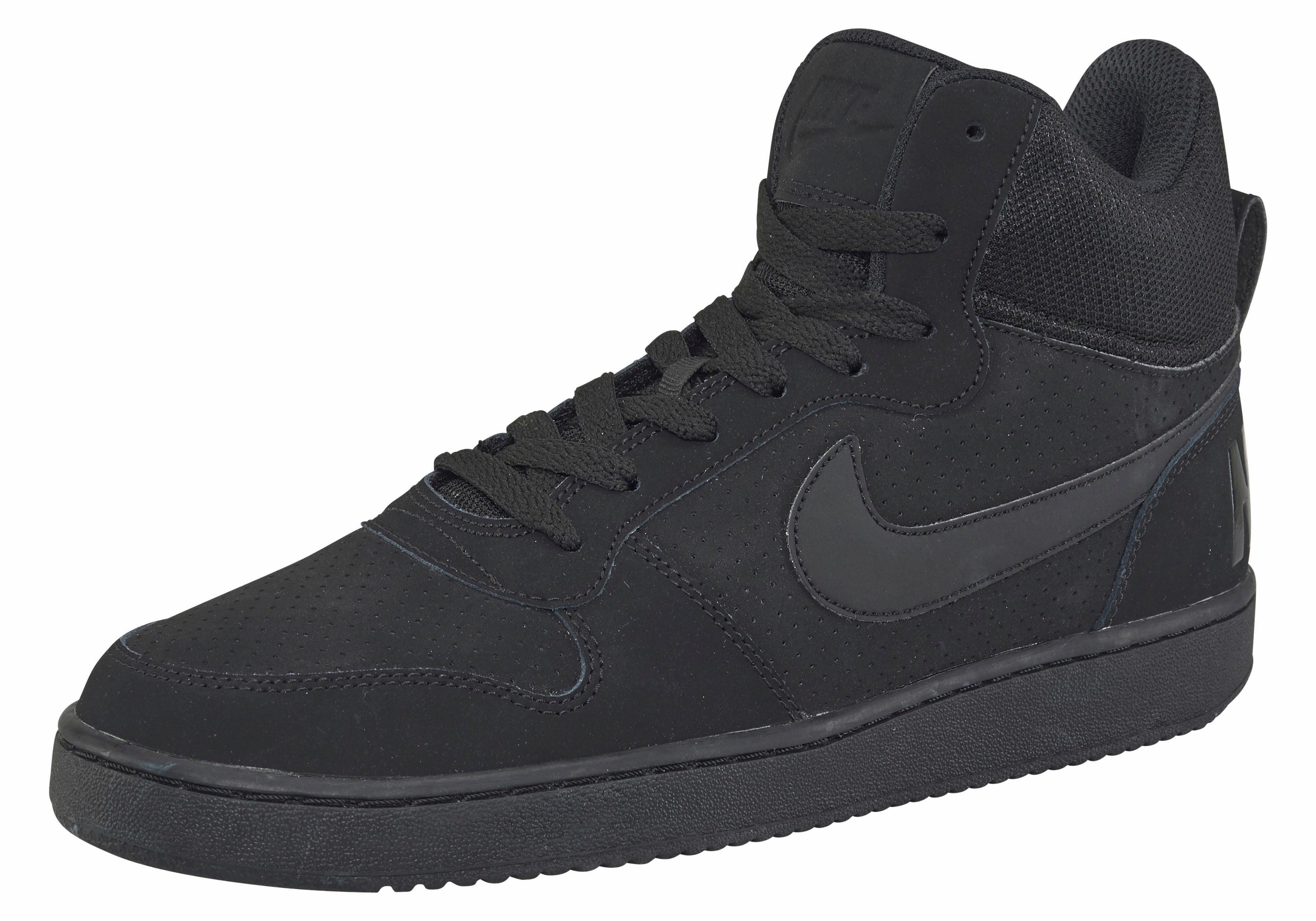 Nike Sportswear Court Borough Mid Sneaker kaufen  schwarz-schwarz