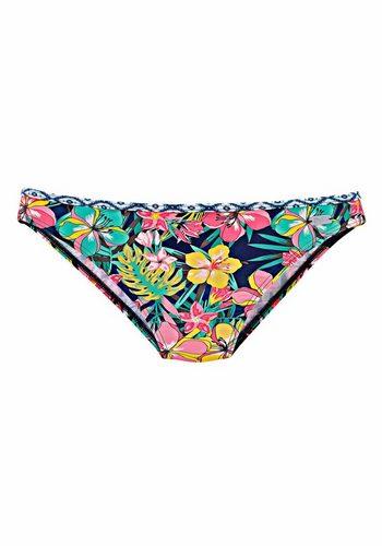 Damen Buffalo Bikini-Hose Dalia mit blau-weißem Kontrastdetail blau | 04893848573241