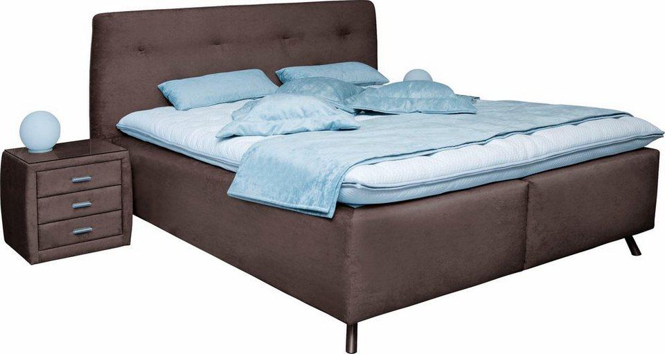 ada premium boxspringbett ramona mit doppeltem. Black Bedroom Furniture Sets. Home Design Ideas
