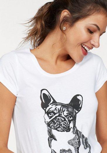 AJC T-Shirt, im Doppelpack mit Katzen, Hunde oder Punkte Druck und uni