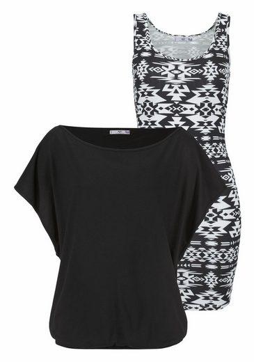 AJC 2-in-1-Kleid, in der Doppelpackung Kleid mit Shirt