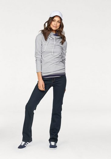 Flashlights Sweatshirt mit Kontrastdetails (Set, mit Top), Top gestreift