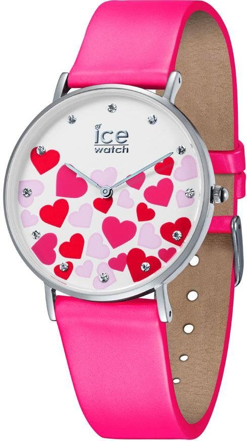 ice-watch Quarzuhr »ICE LOVE 2017 - CITY NEON PINK - Small, 013374«