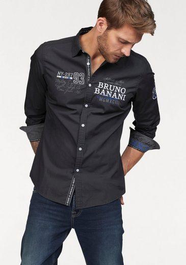 Bruno Banani Hemd, bedruckt und bestickt