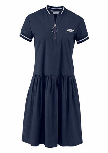 Tom Tailor Polo Team Blusenkleid, mit Strickbündchen und Reißverschluss
