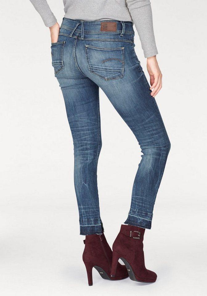 g star 7 8 jeans lynn ankle mit stetch kaufen otto. Black Bedroom Furniture Sets. Home Design Ideas