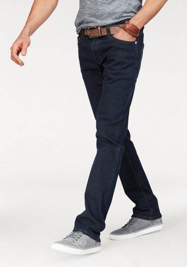 John Devin Straight-Jeans mit Knopfleiste