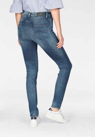 Santana - Skinny-Jeans mit hohem Bund - Schwarz Tommy Jeans Erstaunlicher Preis Günstig Online Mit Mastercard Online-Verkauf WfaHK9ZAm