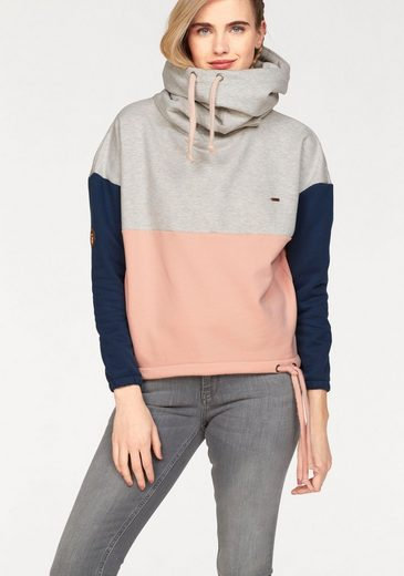 MAZINE Sweater TACOMA BATWING, mit weitem Kapuzenkragen